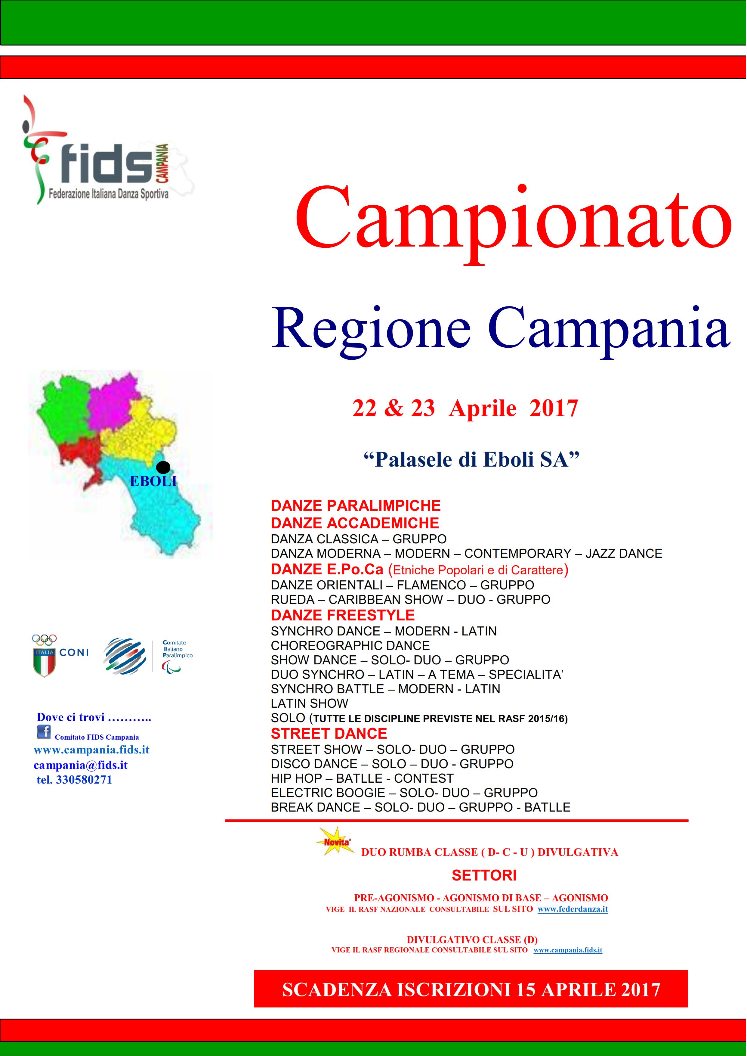 Calendario Fids.Competizioni Comitato Regionale Campania