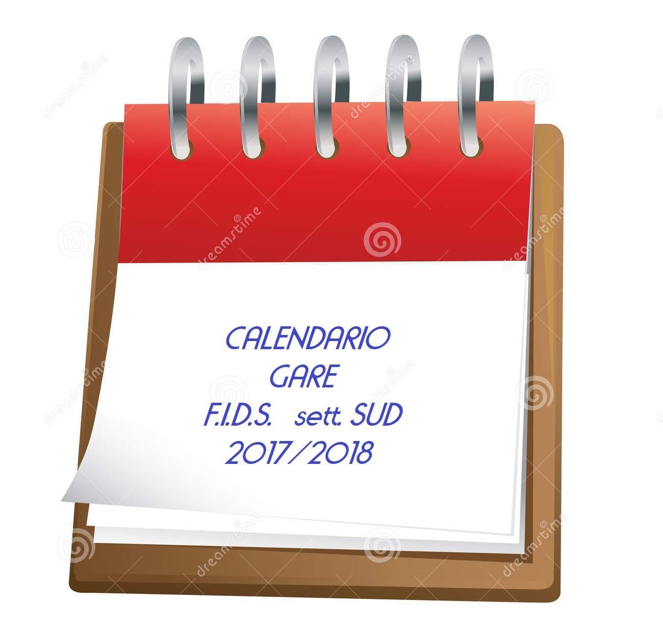 Fids Calendario.Calendario Federale 2017 2018 Settore Sud Comitato