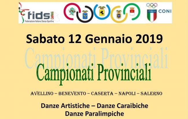 12 GENNAIO CAMP. PROVINCIALI