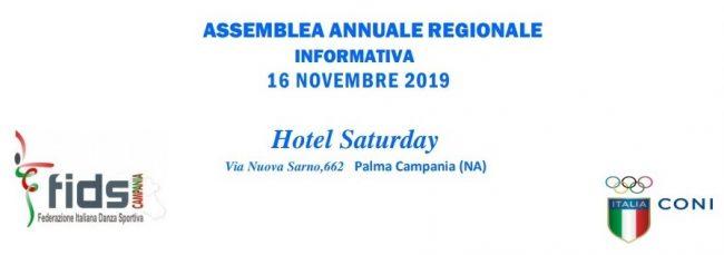 SABATO 16 NOVEMBRE RIUNIONE REGIONALE ANNUALE